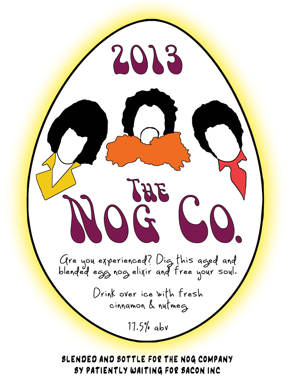 egg nog label